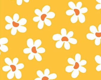 Fat Quarter Sun-Kissed - Daisies in Citrus - Cotton Quilt Fabric - designed by Michele D'Amore for Benartex Fabrics (W1520)