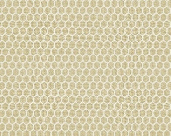 """10"""" REMNANT Bon Appetit - Chicken Wire in Tan - Cotton Quilt Fabric - by Whistler Studios for Windham Fabrics - 35438-2 (w2203)"""