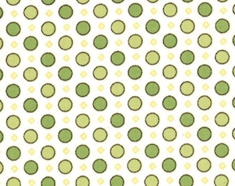 One Yard Windsor Lane - Geo Dots in Sprig Green - Cotton Quilt Fabric - from Bunny Hill for Moda - 2845-13 (W2041)