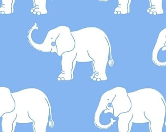 Fat Quarter Trunk Show - Elephants in Blue - Cotton Quilt Fabric - Another Point of View for Windham Fabrics (W1739)