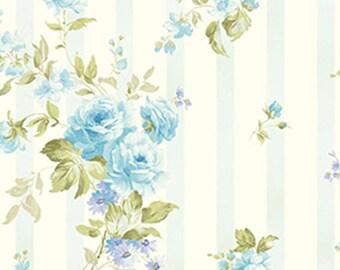 CHRISTINE - Christine in Glacier Frost Blue - Floral Cotton Quilt Fabric - Eleanor Burns for Benartex Fabrics - 716-50 (W2945) Zoey