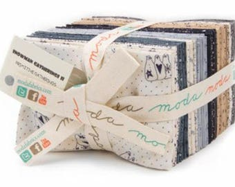 Snowman Gatherings II Fat Eighth Bundle - 40 Different Prints - Cotton Quilt Fabric - Primitive Gatherings for Moda Fabrics -1140-F8 (W3908)