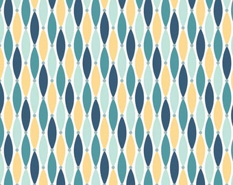Fat Quarter Fly Aweigh - Lures in Blue - Nautical Cotton Quilt Fabric - C3875-BLUE - by Samantha Walker for Riley Blake Designs (W2528)