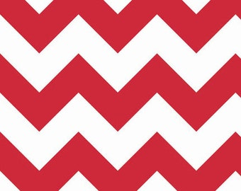 Half Yard Large Chevron - Large Chevron in Red - Cotton Quilt Fabric - C330-80 - RBD Designers for Riley Blake Designs (W3311)