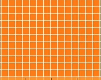 Fat Quarter Citrus - Small Check in Orange - Cotton Quilt Fabric - by Another Point of View for Windham Fabrics - 37514-3 (W3067)