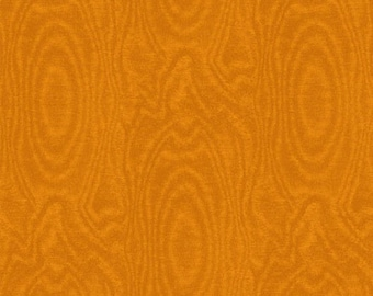 Fat Quarter That's A Moiré - Moire in Burnt Orange - Cotton Quilt Fabric - by Whistler Studios for Windham Fabrics (W2147)