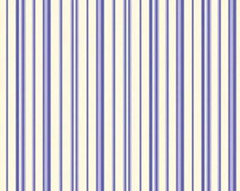 "30"" Remnant ELLIE ANN - Ann Stripe in Cobalt Blue -  Cotton Quilt Fabric Stripes - Eleanor Burns for Benartex Fabrics - 1231-55 (W2344)"