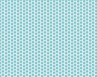 Half Yard Honeycomb Dots - Reversed Dot in Aqua Blue - Cotton Quilt Fabric - C800-20 - RBD Designers for Riley Blake Designs (W3313)
