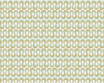 One Yard Drift - Blooming Algae in Gold - Cotton Quilt Fabric - from Angela Walters for Art Gallery Fabrics (W1702)