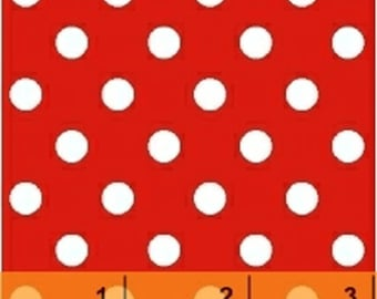 Windham Basic Brights - Polka Dot in Red / White - American Bright Basics Cotton Quilt Fabric Dots - Windham Fabrics - 29398-6 (W3361)