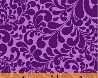 Fat Quarter Swirl Basics - Quail Swirl in Purple - Cotton Quilt Fabric - by Whistler Studios for Windham  (W1295)