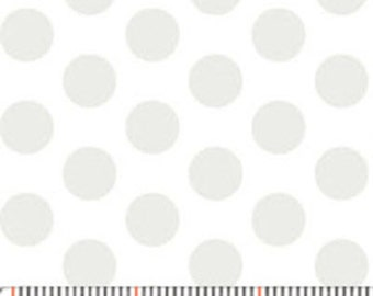 MORE of This 'N That  - Gum Drops in Mist White - Cotton Polka Dot Quilt Fabric - by Nancy Halvorsen for Benartex Fabrics - 861-08 (W1909)