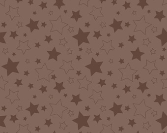 Half Yard Cotton Stars in Brown - Cotton Quilt Fabric - RBD Designers for Riley Blake Designs (W782)