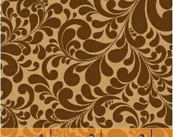 Fat Quarter SWIRL BASICS - Quail Swirl in Brown - Cotton Swirls Blender Quilt Fabric - Whistler Studios for Windham Fabrics -35116-8 (W1296)