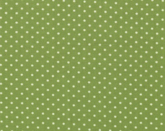 Bartholo-meow's Reef - Ocean Dots in Kelp - Green Polka Dot Cotton Quilt Fabric - Tim and Beck for Moda Fabrics - 39537-15 (W2816)