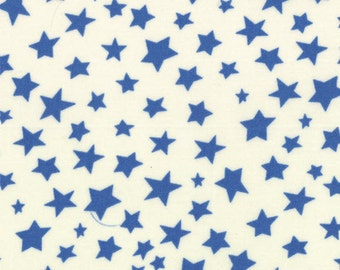 One Yard Bartholo-meow's Reef - Star Gathering in Wave Water Blue - Cotton Quilt Fabric - from Tim and Beck for Moda - 39533-21 (W2809)