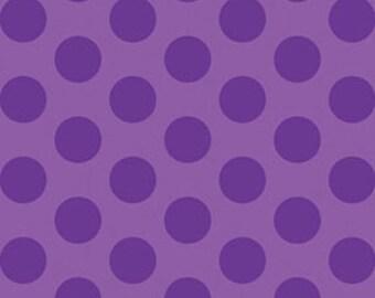 This 'N That - Gum Drops in Violet - Purple Cotton Polka Dots Quilt Fabric - by Nancy Halvorsen for Benartex Fabrics - 861-60 (W1663)