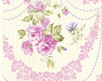 Half Yard Christine - Rose Cameo in Sugar Berry Pink - Cotton Quilt Fabric - Eleanor Burns for Benartex Fabrics - 712-87 (W2935) Zoey