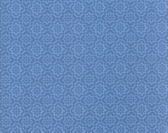 VOYAGE - Porto in Baltic Blue - Beautiful Blue Floral Geometric Cotton Quilt Fabric - 27287-23 - Kate Spain for Moda Fabrics (W4516)