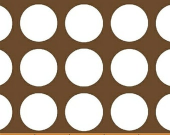 Fat Quarter Multidot - Medium Dot in Brown - Polka Dot Cotton Quilt Fabric - by French Bull for Windham Fabrics (W1221)