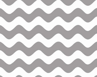 One Yard Wave - Waves in Gray - Cotton Quilt Fabric - RBD Designers for Riley Blake Designs - C415-40 (W3292)