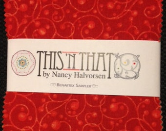 """This 'N That Charm Pack - (42) 5"""" X 5"""" Squares - Designed by Nancy Halvorsen for Benartex (W731)"""