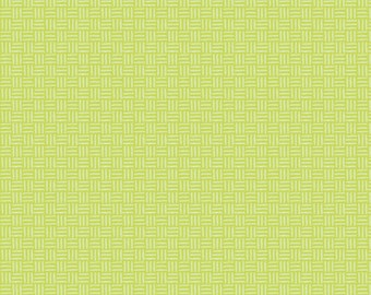 Fat Quarter Bugs - Hatchmarks in Green - Cotton Quilt Fabric - by Jone Hallmark for Blend Fabrics (W1835)