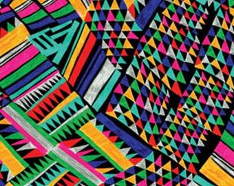 CINCO DE MAYO - Poncho in Multi - Bold Bright Fiesta Cotton Quilt Fabric - by Greta Lynn for Benartex Fabrics - 6526-99 (W5116)