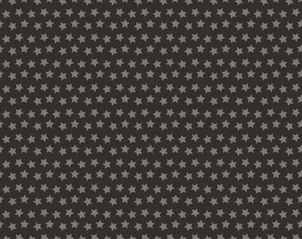 LUCKIE - Sirius in Black - Gray Grey Stars Star Blender Cotton Quilt Fabric - by Maude Asbury for Blend Fabrics - 101.115.05.2 (W3460)
