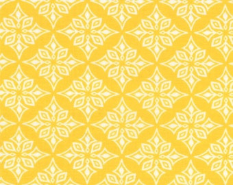 DAYDREAMS - Vestige in Yellow - Geometric Cotton Quilt Fabric - designed by Kate Spain for Moda Fabrics - 27178-12 (W2778)