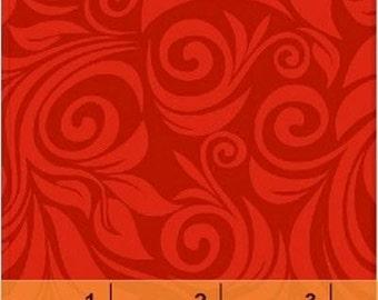 Fat Quarter SWIRL BASICS - Fan Swirl in Red - Cotton Swirls Blender Quilt Fabric - by Whistler Studios for Windham Fabrics - 35115-4 (W1273)