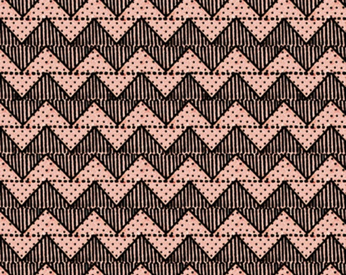 QUILTING B's - Chevron in Pink - Zigzag Stripes Cotton Quilt Fabric - Janet Wecker Frisch - Quilting Treasures Fabrics - 24959-P (W5243)