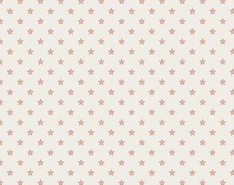 SALE!! - Stars & Stripes - Stars in Cream / Red - Cotton Star Quilt Fabric - Deena Rutter, My Mind's Eye - Riley Blake Fabrics - C2796 (W39)
