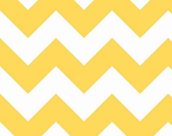 One Yard Large Chevron - Large Chevron in Yellow - Cotton Quilt Fabric - C330-50 - RBD Designers for Riley Blake Designs (W3308)