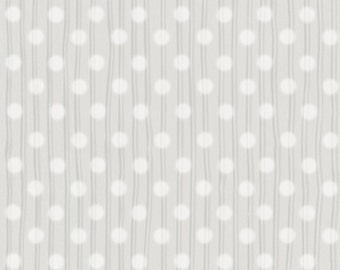 SNUGGLE BUDDIES - Dotted Stripes in Gray - Grey Dots Stripe Cotton Quilt Fabric - by Stacey Yacula for Quilting Treasures - 23438-K (W2279)