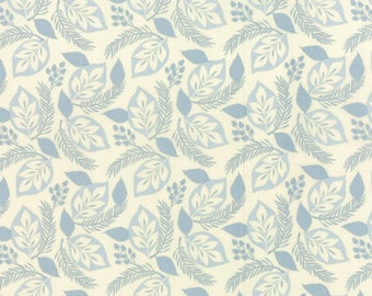 SOLSTICE - Evergreen in Icicle Blue - Light Blue Winter Cotton Quilt Fabric - by Kate Spain for Moda Fabrics - 27181-25 (W3929)