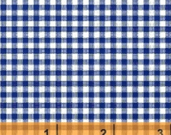 Windham Basic Brights - Small Gingham in Navy Blue - American Bright Basics Cotton Quilt Fabric Plaid - Windham Fabrics - 29401-2 (W2957)