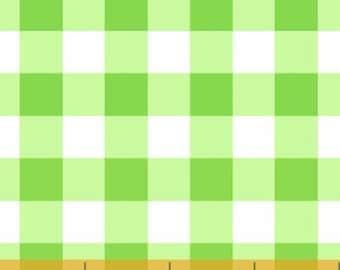 Fat Quarter Windham Basic Brights - Large Plaid in Green - Bright Basics Cotton Quilt Fabric Gingham - Windham Fabrics  29397-3 (W1316)