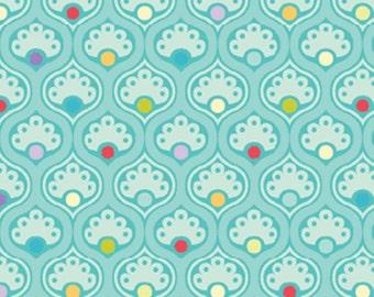 Bree by Nancy Halvorsen for Benartex Multi Paisley 2132-24 Aqua