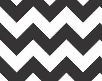 Half Yard Large Chevron - Large Chevron in Black - Cotton Quilt Fabric - C330-110 - RBD Designers - Riley Blake Designs (W3317)