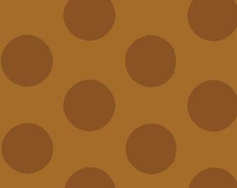 Fat Quarter Mischief  - Cookie Dots in Brown - Little Boy Fabric Line Designed by Nancy Halvorsen for Benartex (w880)