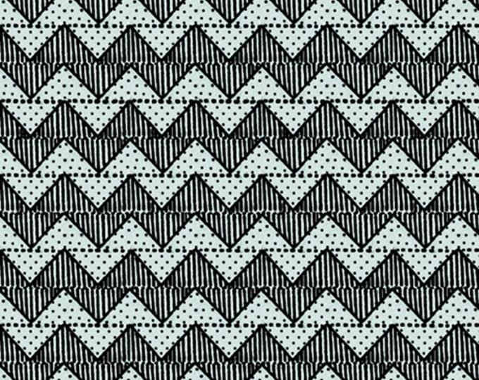 QUILTING B's - Chevron in Blue - Zigzag Stripes Cotton Quilt Fabric - Janet Wecker Frisch - Quilting Treasures Fabrics - 24959-B (W5241)