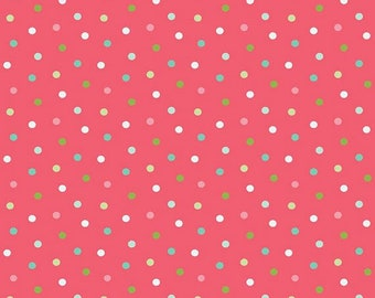 BUTTERFLIES and BERRIES - Polka Dot in Hot Pink - Cotton Dots Quilt Fabric - Riley Blake Designs Fabrics - C6946-HOTPINK (W5157)