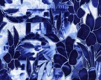 Fat Quarter Harmony - Iris in Blue - Cotton Quilt Fabric - by Kanvas for Benartex Fabrics (W1557)