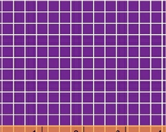 Fat Quarter Citrus - Small Check in Purple - Cotton Quilt Fabric - by Another Point of View for Windham Fabrics - 37514-5 (W3068)