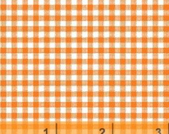 Windham Basic Brights - Small Gingham in Orange / White - Bright Basics Cotton Quilt Fabric Plaid - Windham Fabrics 29401-8 (W2964)