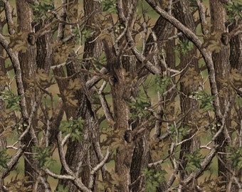 Norwegian Woods Camo in Green / Brown - Camouflage Cotton Quilt Fabric - by Whistler Studios for Windham Fabrics - 36384-X (W175)