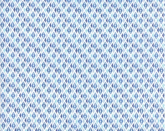 VOYAGE - Bomeo in Baltic Blue - Beautiful Blue Diamond Geometric Cotton Quilt Fabric - 27288-16 - Kate Spain for Moda Fabrics (W4518)