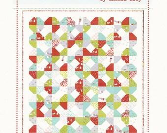 "Jolly Quilt Pattern - Super Fun Beginner Pattern Uses Fat Eighths - by Aneela Hoey - 62"" x 70"" - AH 1204 (W1733)"