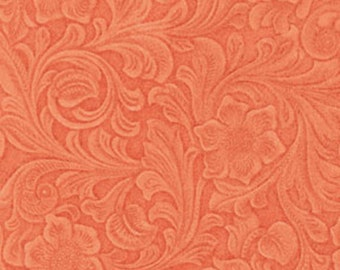 One Yard Somerset - Sculpture Garden in Tangelo Orange - Cotton Quilt Fabric - by E. Vive for Benartex Fabrics - 3882-22 (W2549)